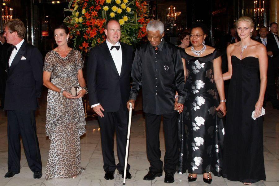 Avec la famille royale de Monaco, en septembre 2007