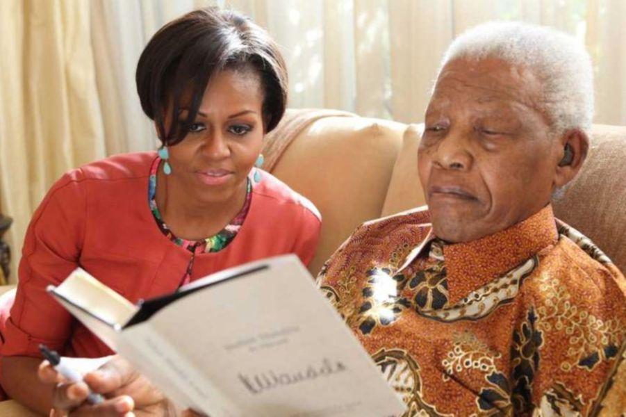 Avec Michelle Obama, en juin 2011