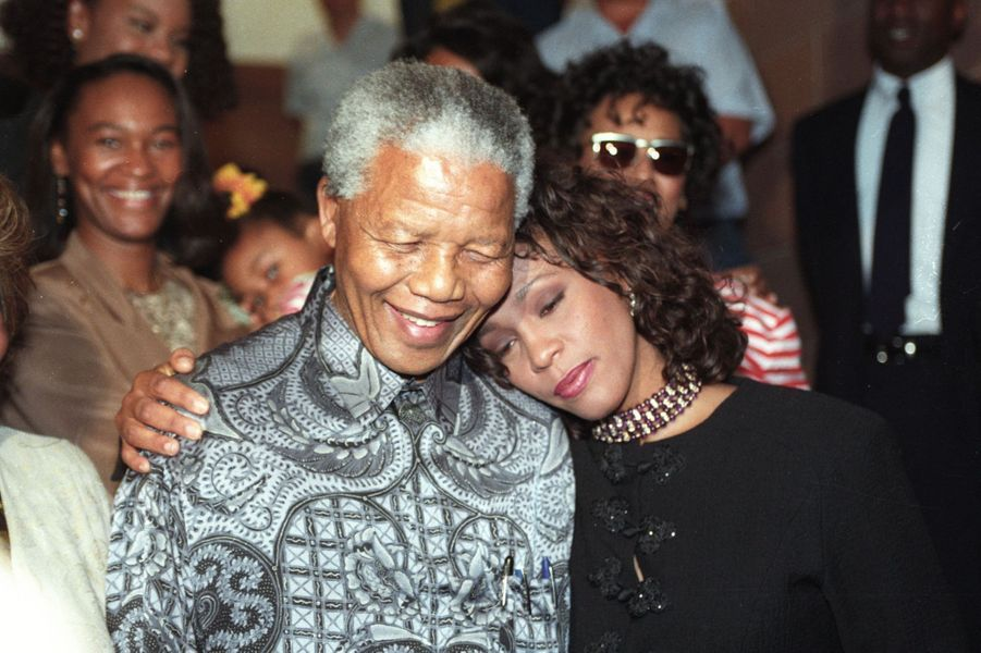 Avec Whitney Houston, en novembre 1994