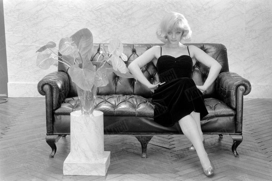 Nina Hagen métamorphosée en Marilyn Monroe pour Paris Match, en octobre 1980.