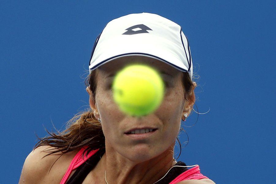 Varvara Lepchenko lors de son match face à Lara Arruabarrena à l'Open d'Australie.