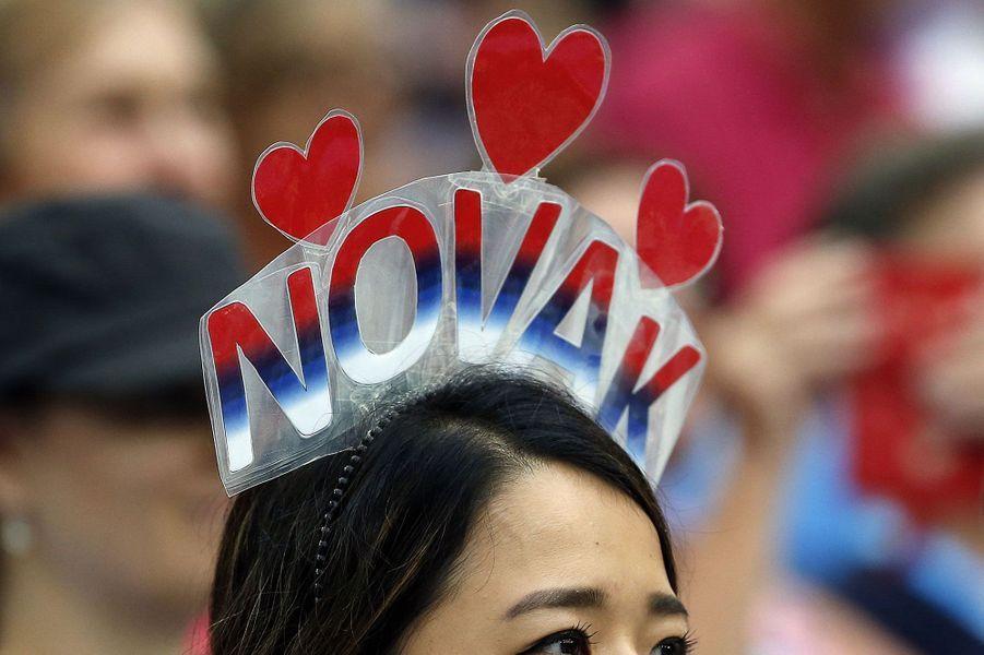 Une supportrice de Novak Djokovic à Melbourne, lors de l'Open d'Australie.