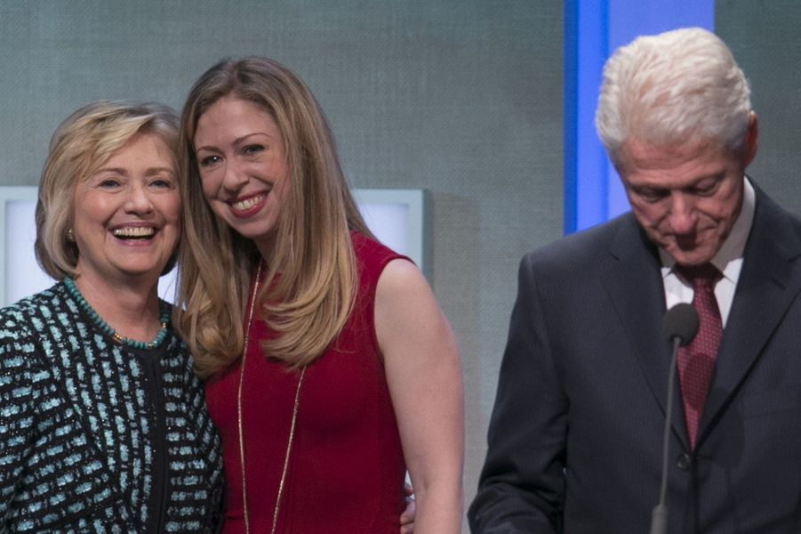 Hilary, Chelsea et Bill Clinton