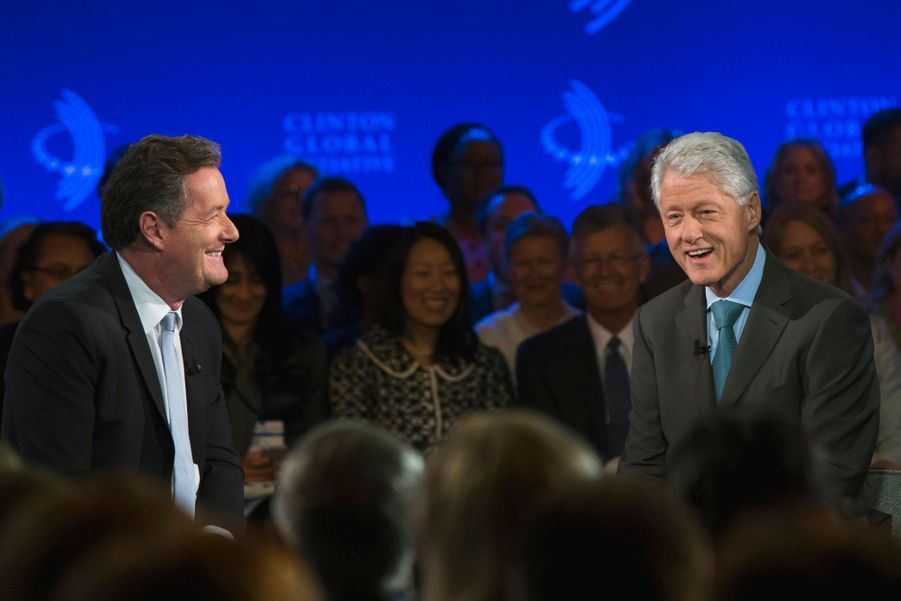 Le présentateur de CNN Piers Morgan et Bill Clinton