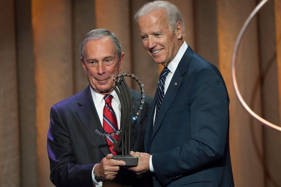 Michael Bloomberg, maire de New York, et Joe Biden, vice-président