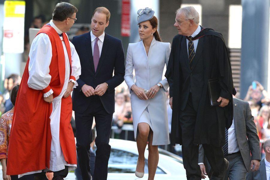 William et Kate se sont rendus dans une Eglise de Sydney