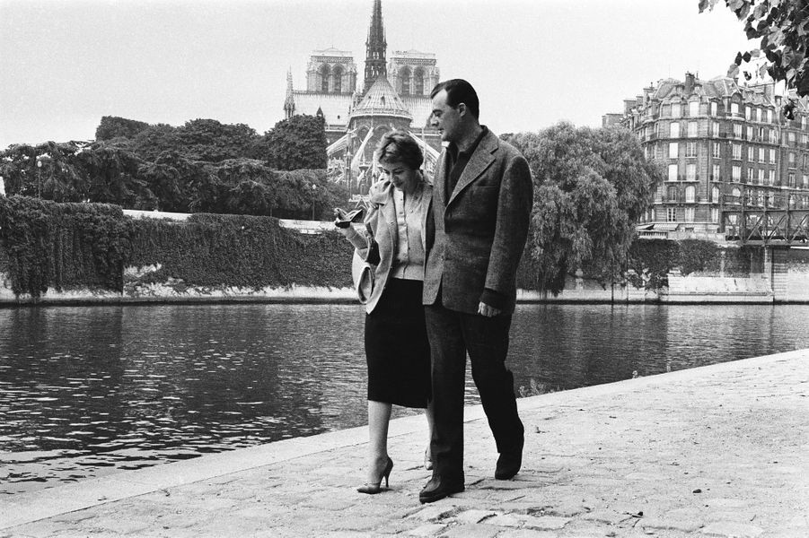 Annie Girardot et Norbert Carbonnaux. 1958