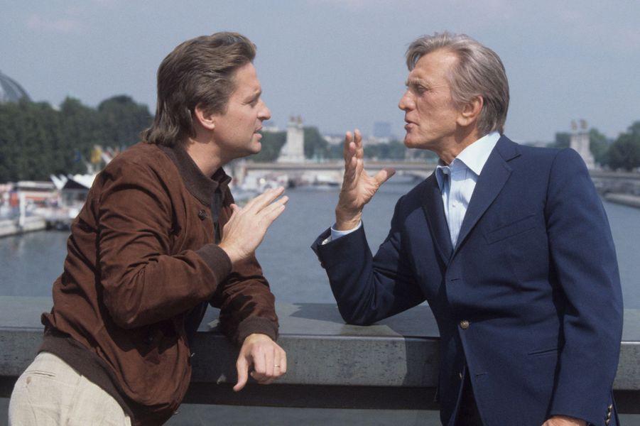 Kirk et Michael Douglas. 1984