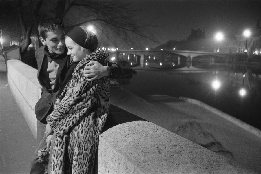 Romy Schneider et Alain Delon. 1961