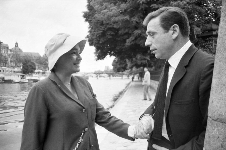 Simone Signoret et Yves Montand. 1963