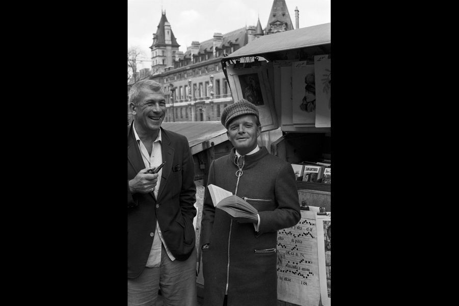 Truman Capote et Richard Brooks. 1968