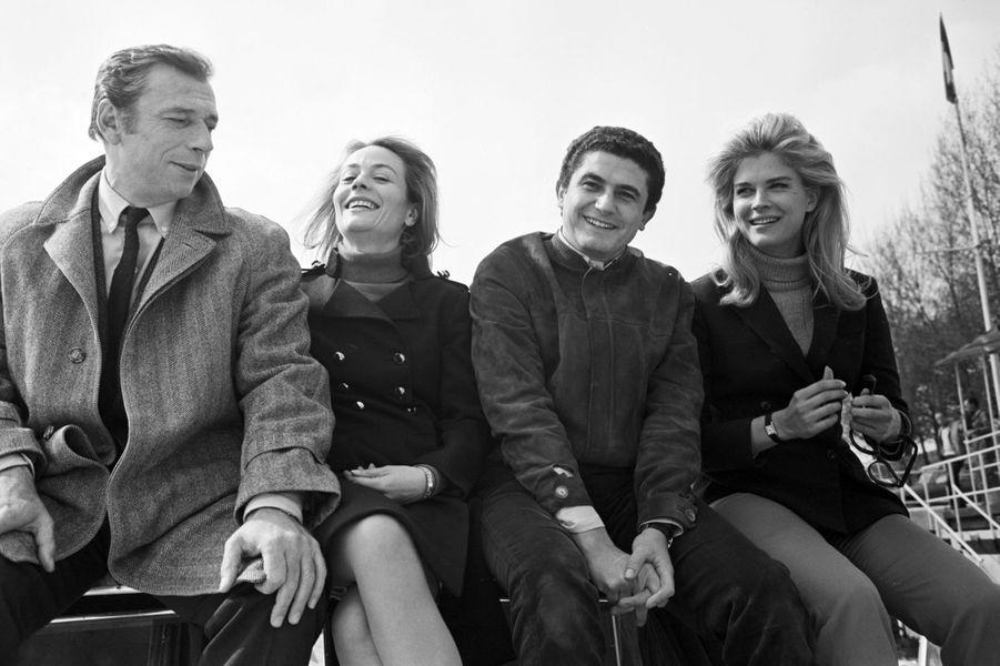 Yves Montand, Annie Girardot, Claude Lelouch et Candice Bergen