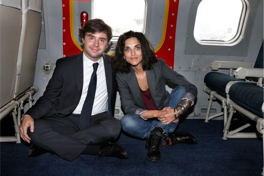 Edouard Minc, éditeur, et Pauline delpech, écrivain et comédienne.