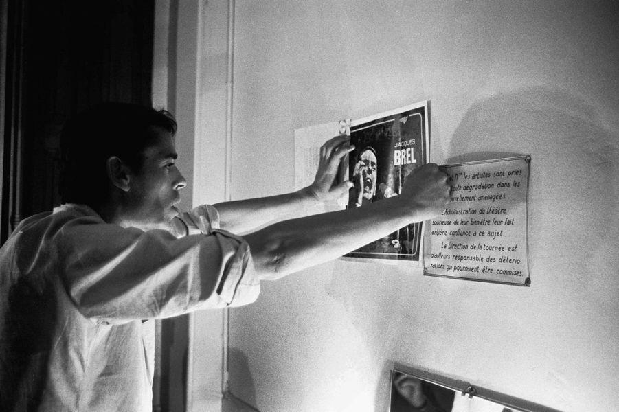 Jacques Brel lors de sa tournée d'adieux, le 29 septembre 1966