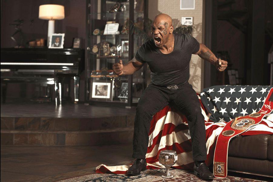 Mike Tyson reçoit Paris Match chez lui à Las Vegas, pour la sortie de son livre de mémoires, le 22 novembre 2013