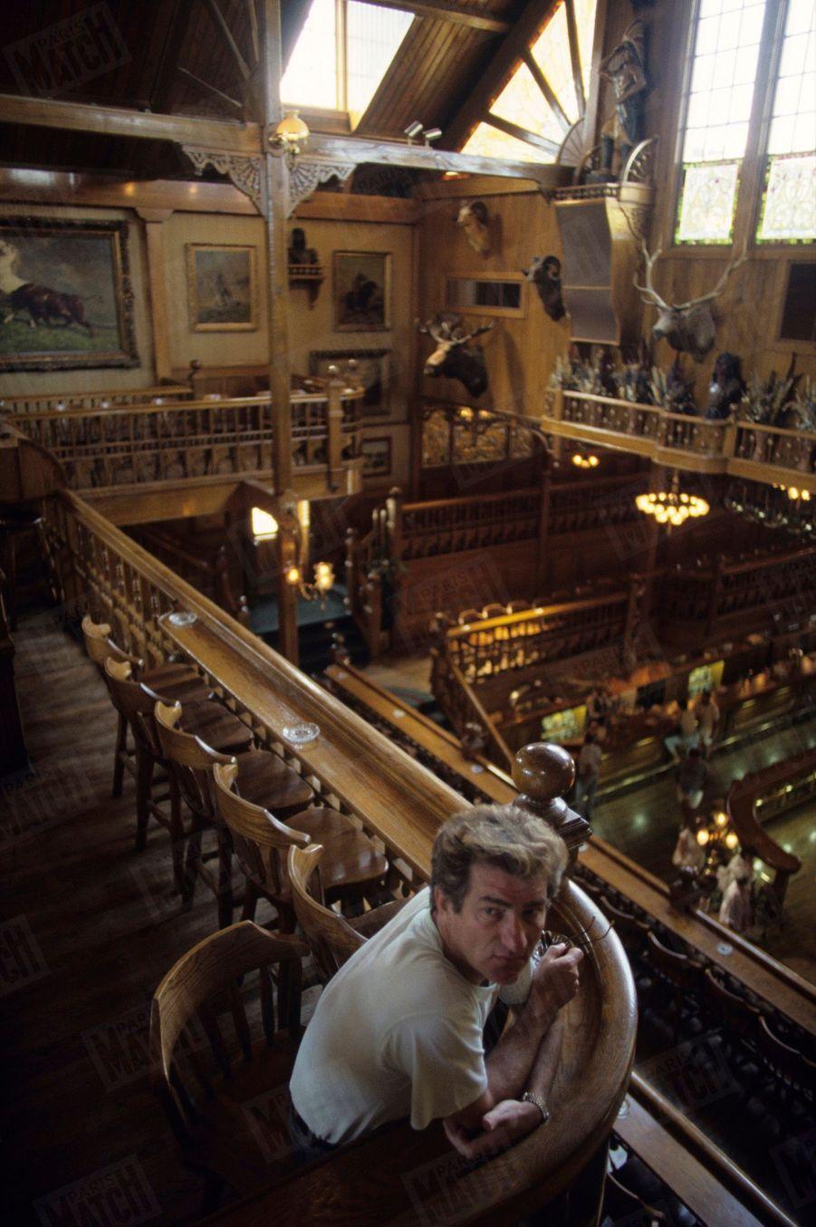 Eddy Mitchell au pub Rosie O'Gradys d'Orlando, en mai 1987.