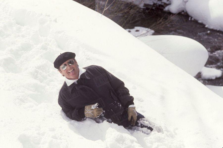 L'acteur Jack Nicholson reçoit Paris Match dans son chalet d'Aspen, Colorado, le 15 février 1988.