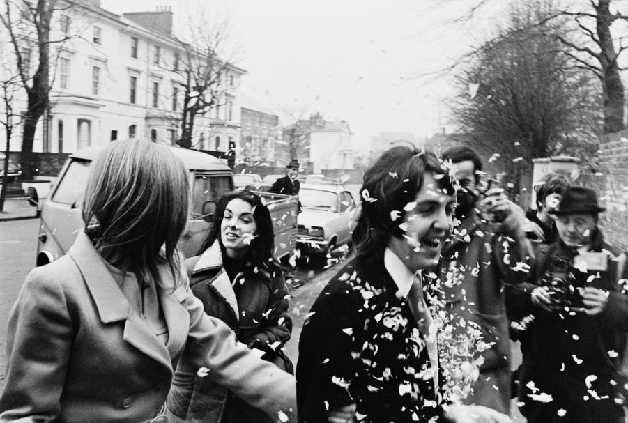 Le mariage de Paul et Linda McCartney, le 12 mars 1969.