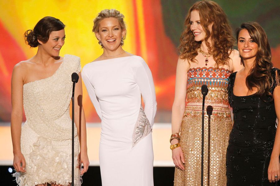 Avec Marion Cotillard, Kate Hudson et Nicole Kidman Screen Actors Guild Awards en 2010