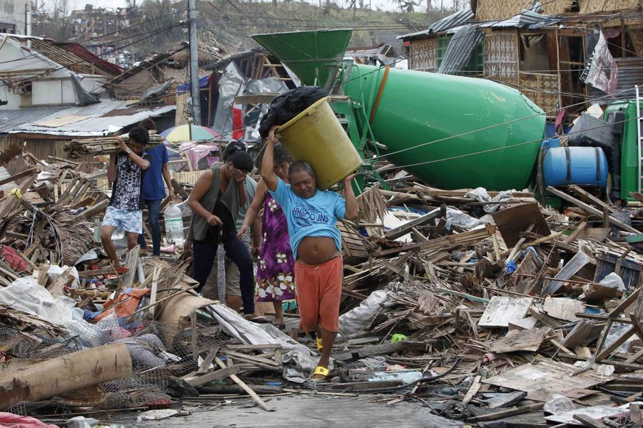 Les ravages du super-typhon Haiyan