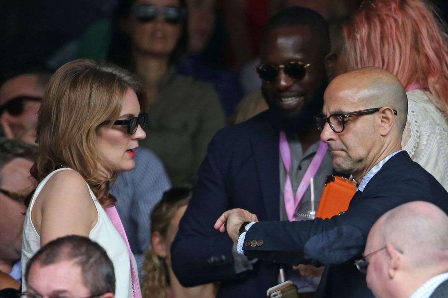Felicity Blunt et Stanley Tucci à Wimbledon