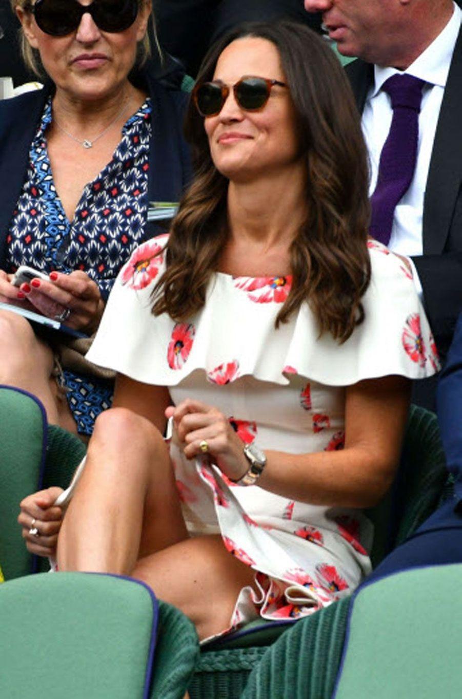 Pippa Middleton dans les tribunes du tournoi de Wimbledon