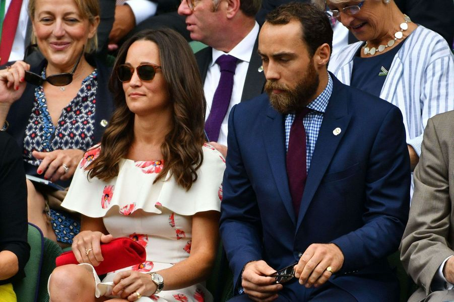 Pippa Middleton et son frère James Middleton à Wimbledon