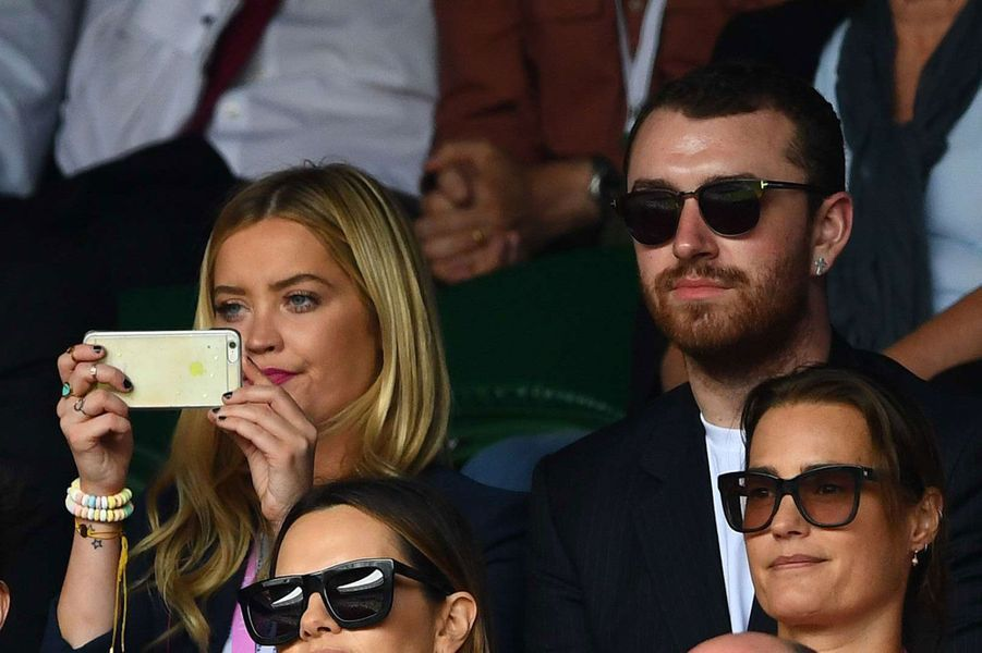 Sam Smith dans les gradins de Wimbledon