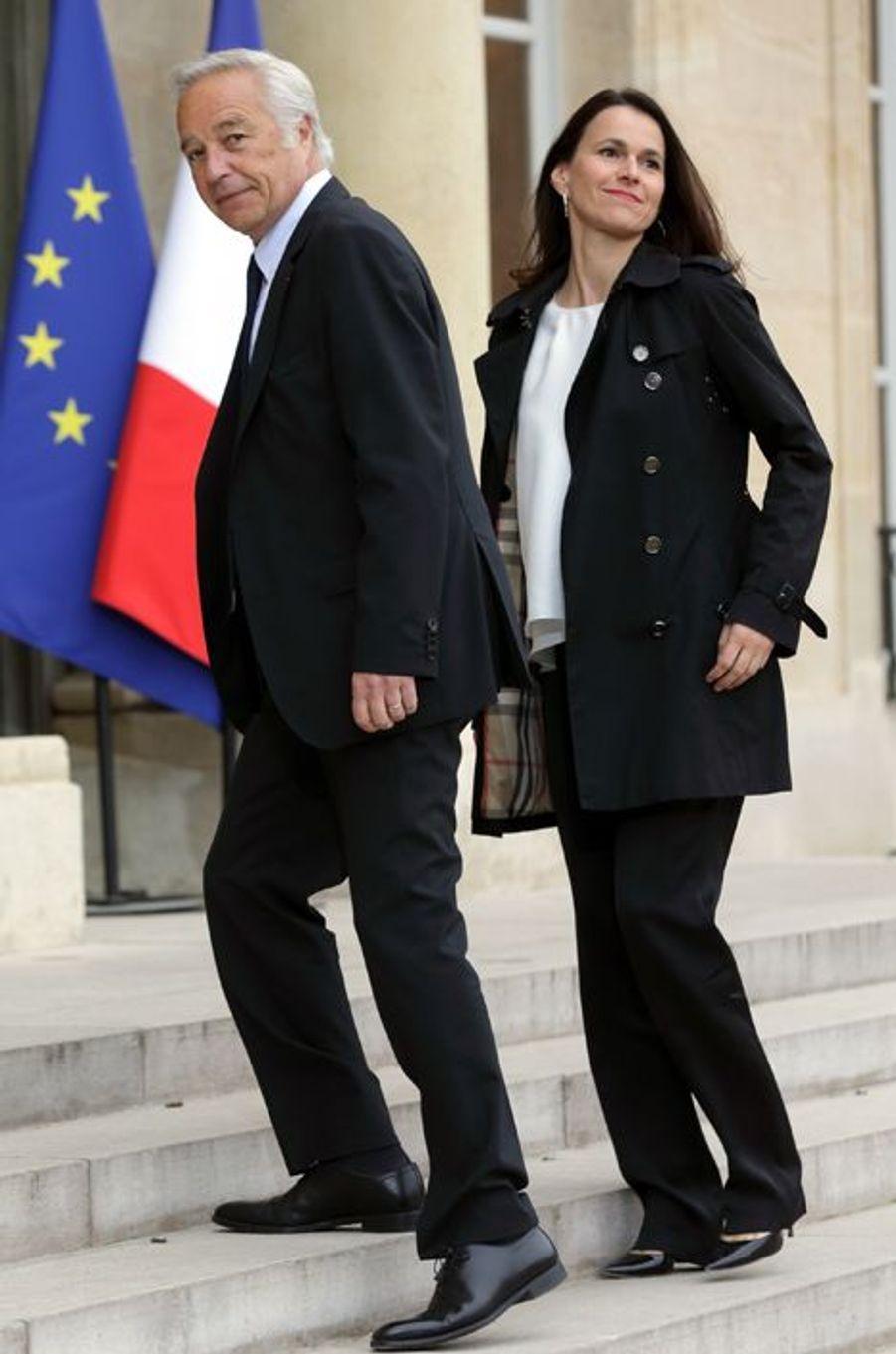 François Rebsamen, ministre du Travail, et Aurélie Filippetti, ministre de la Culture et de la Communication