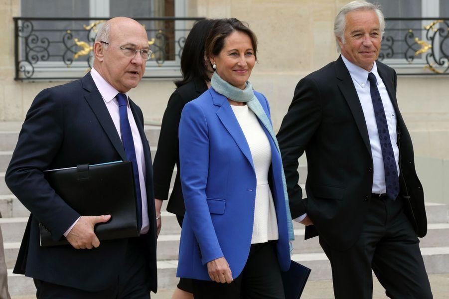 Michel Sapin, Ségolène Royal et François Rebsamen