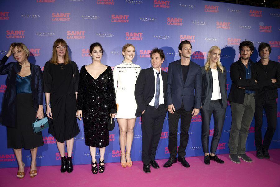 """L'équipe du film """"Saint Laurent"""", à la première parisienne"""