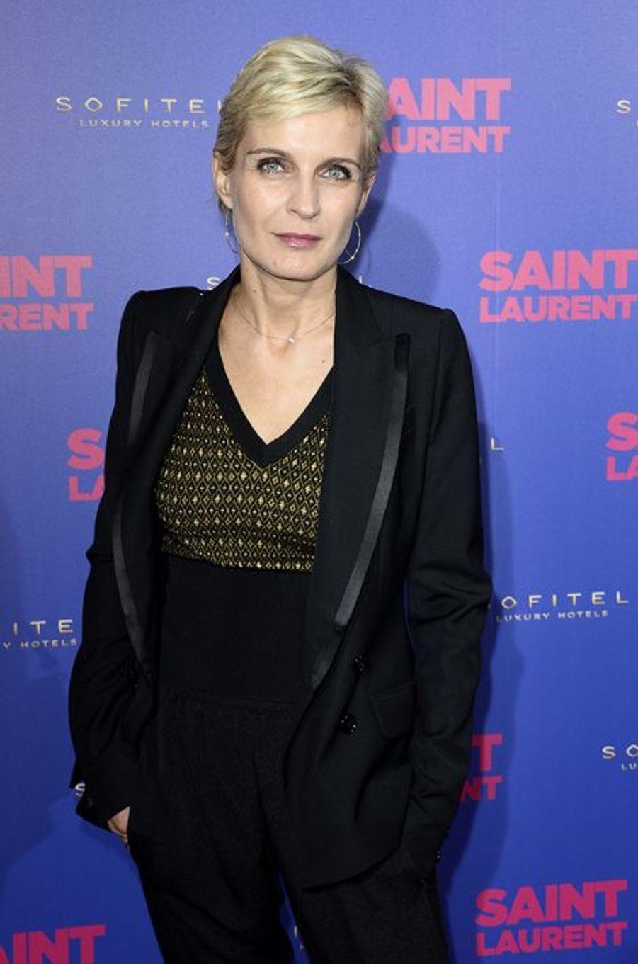 """Mélita Toscan du Plantier à la première de """"Saint Laurent"""" à Paris"""
