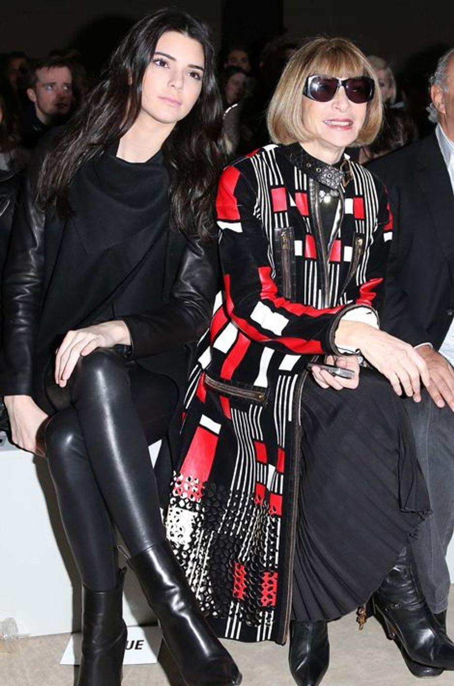 Kendall Jenner et Anna Wintour (Topshop)