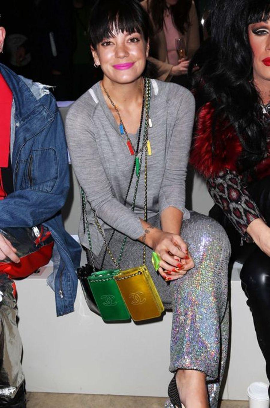 Lily Allen au défilé Ashish