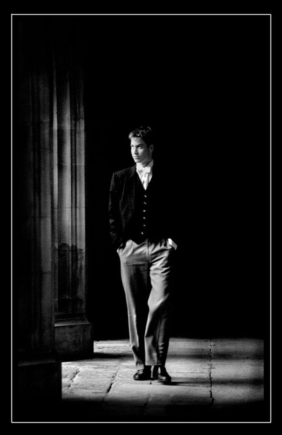 Le prince William lors de ses études au Collège d'Eton, en juin 2000.