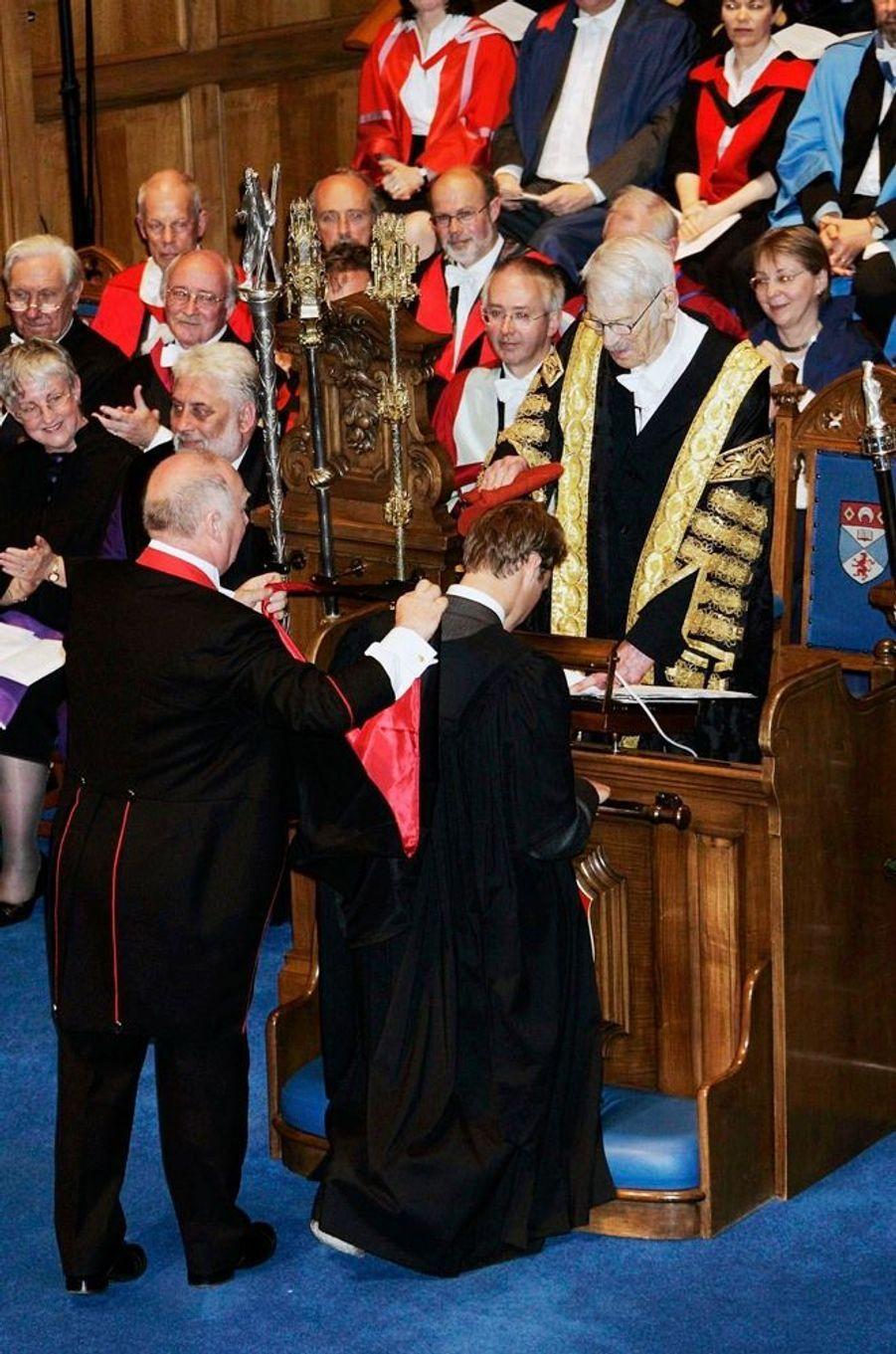 Le prince William lors de la cérémonie de remise des diplômes à l'université de St Andrews, en Ecosse, en juin 2005.