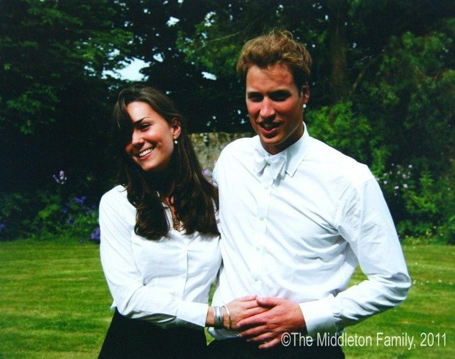Kate Middleton et le prince William lors de la cérémonie de remise des diplômes à l'université de St Andrews, en Ecosse, en juin 2005.