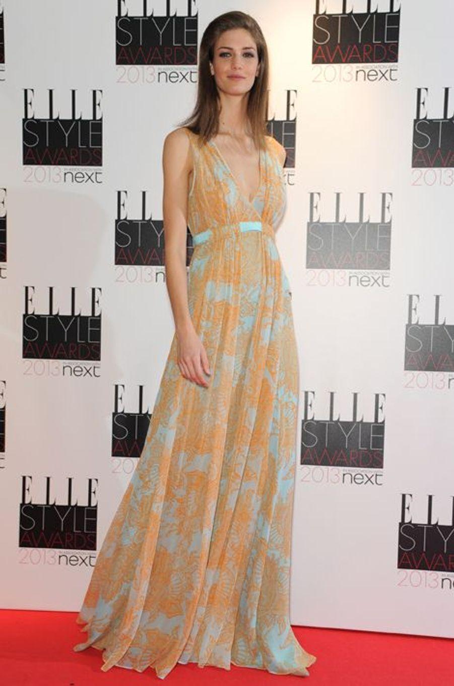 En février 2013 aux Elle Style Awards, à Londres