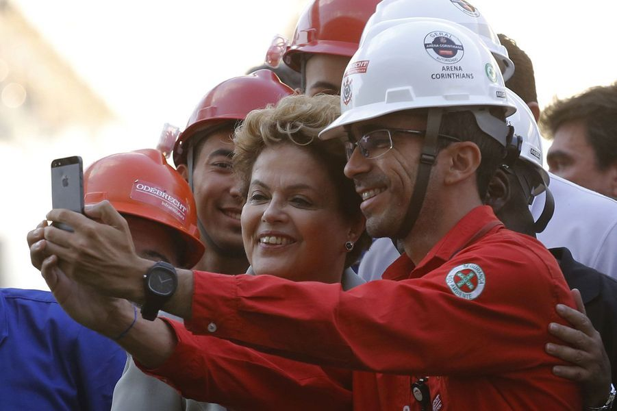 La présidente du Brésil Dilma Rousseffà Sao Paulo en mai
