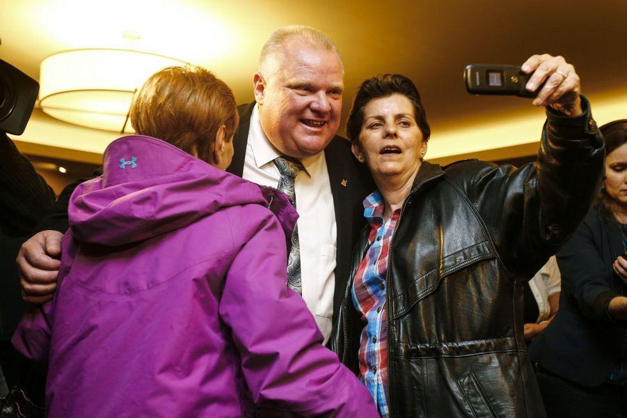 Rob Ford, le maire de Toronto en avril, à Toronto