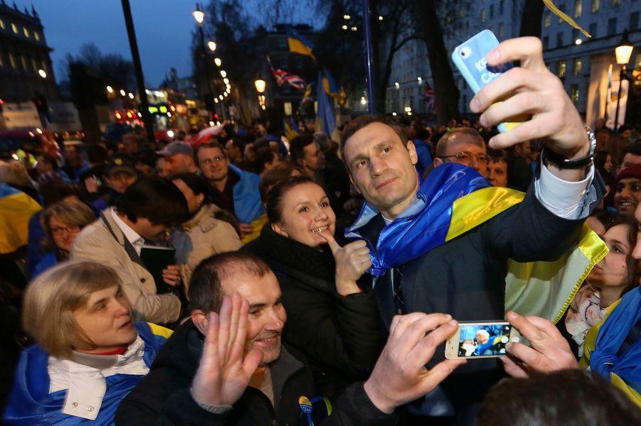 Vitali Klitschko, leader ukrainien du parti Alliance démocratique ukrainienne pour la réforme en mars 2014