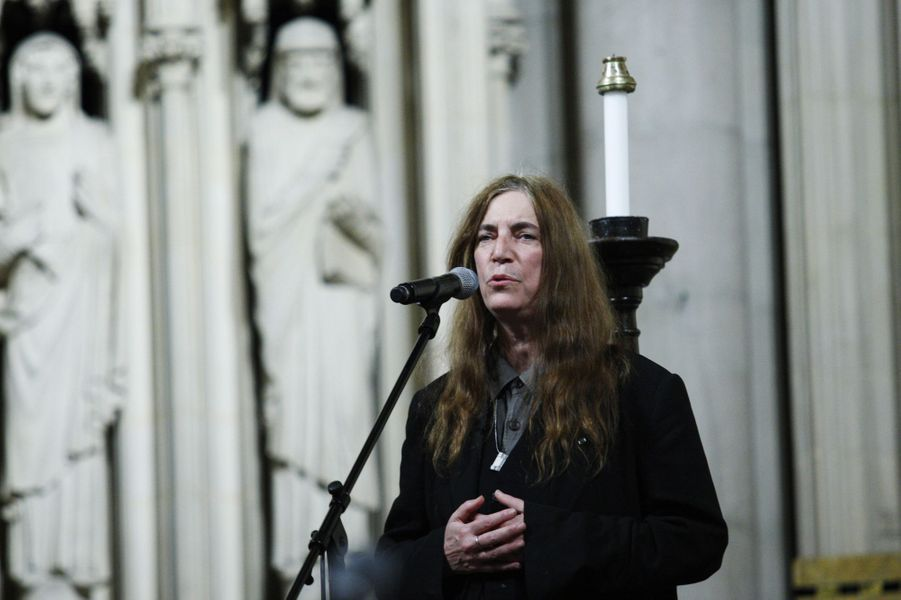 Patti Smith chante pour les protestataires d'Occupy Wall Street, le 16 janvier 2012