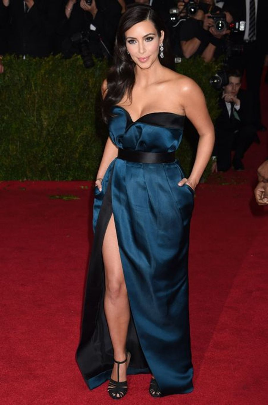 Kim Kardashian (en Lanvin)