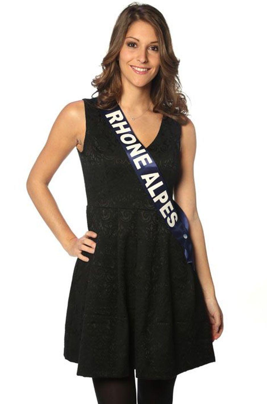 Mylène Angelier, 22 ans, Miss Rhône-Alpes