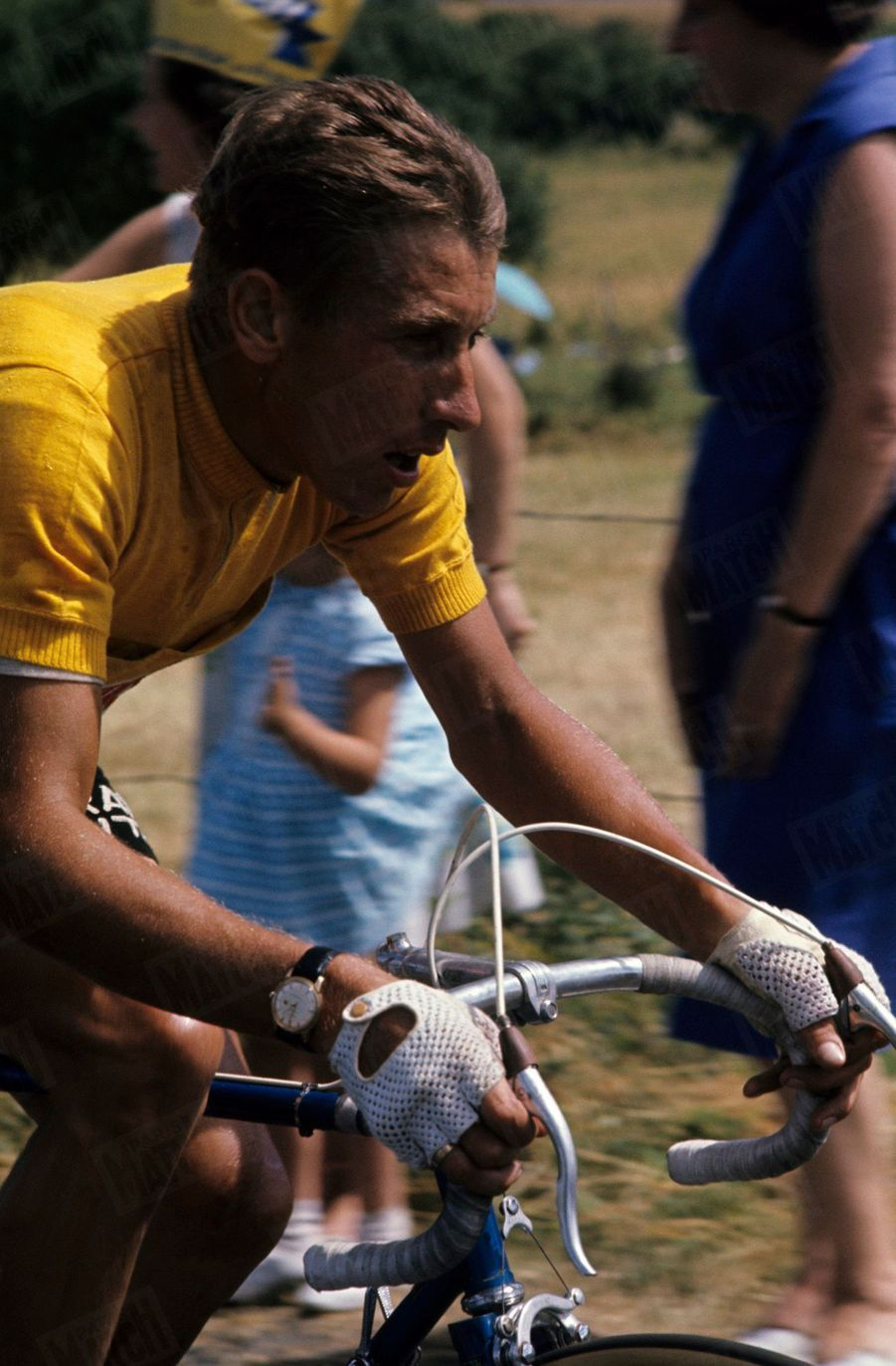 Jacques Anquetil, maillot jaune du Tour de France 1964.