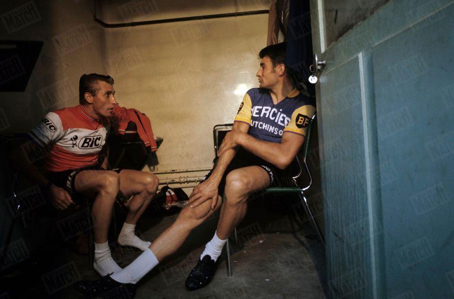 En octobre 1969, Anquetil et Poulidor,les deux grands rivaux devenus de grands amis...