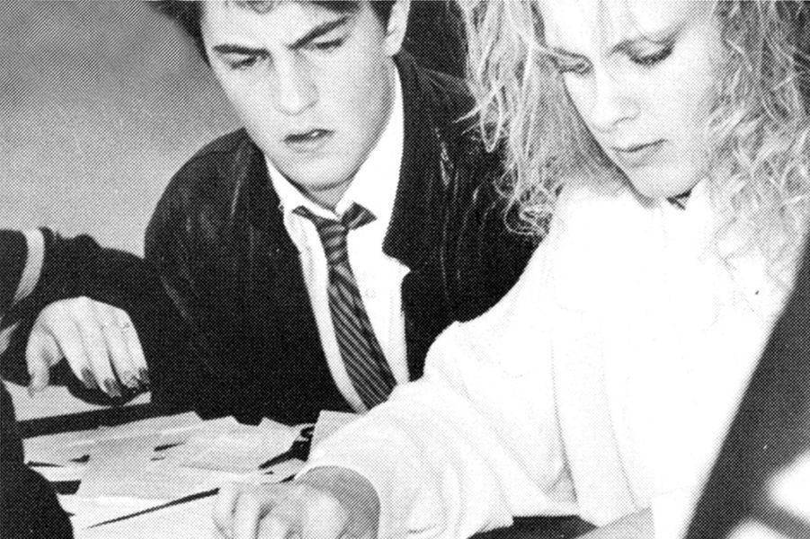 Sur la photo précédente, un très jeune Matt Damon en classe en 1988.
