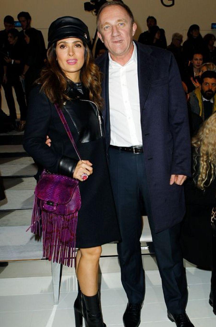 Salma Hayek et son mari François-Henri Pinault, à la tête de Kering, qui possède Gucci