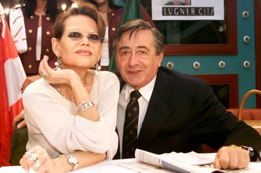 Claudia Cardinale et Richard Lugner, en février 2002