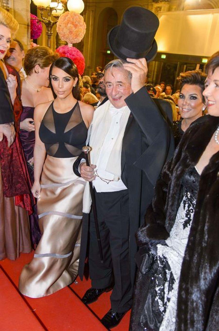 Kim Kardashian et Richard Lugner, en février 2014
